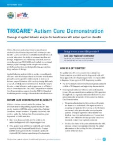 Tricare Autism Benefit Guidelines